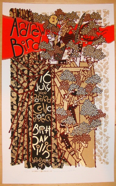 2009 Andrew Bird - Silkscreen Concert Poster by Guy Burwell
