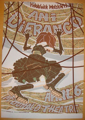 2004 Ani Difranco - Silkscreen Concert Poster by Guy Burwell