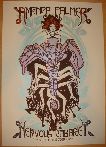 2009 Amanda Palmer - Fall Tour Silkscreen Poster by Malleus