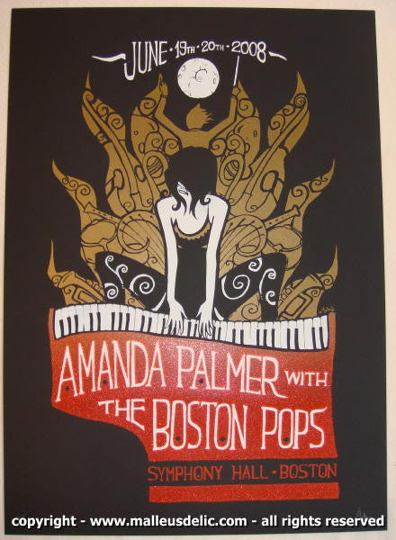 2008 Amanda Palmer w/ the Boston Pops Concert Poster by Malleus