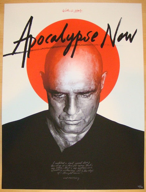 "2013 ""Apocalypse Now"" - Variant Movie Poster by Domaradzki"