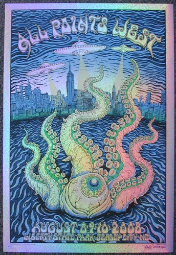 2008 All Points West - Sparkle Foil Variant Poster by Emek