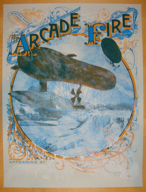 2005 Arcade Fire - Winter Tour Concert Poster by Burlesque