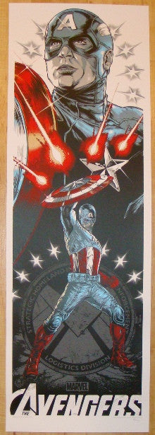 "2012 ""Avengers"" - Captain America Movie Poster by Rhys Cooper"