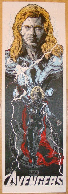 "2012 ""Avengers"" - Thor Movie Poster by Rhys Cooper"