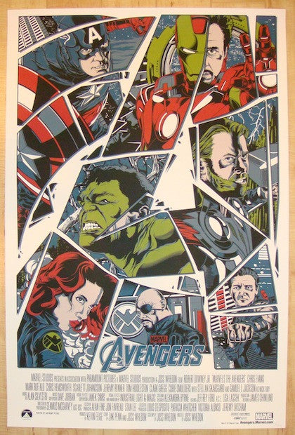 "2012 ""The Avengers"" - Silkscreen Movie Poster by Anthony Petrie"