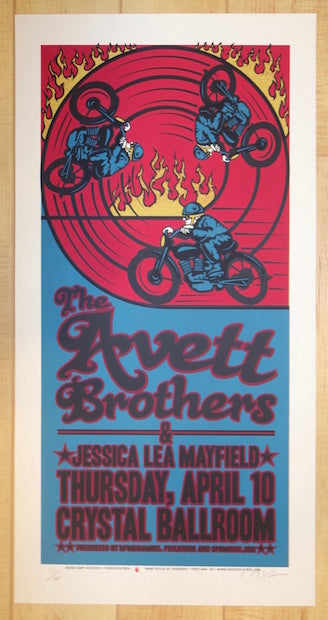 2008 The Avett Brothers - Portland Silkscreen Concert Poster by Gary Houston