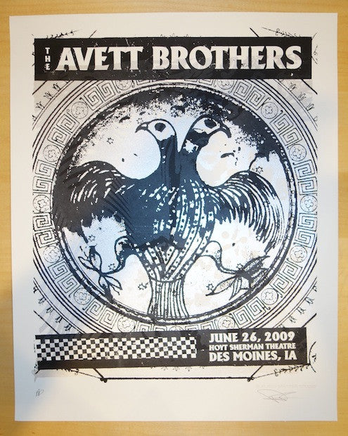 2009 Avett Brothers - Des Moines Poster by Subject Matter Studio