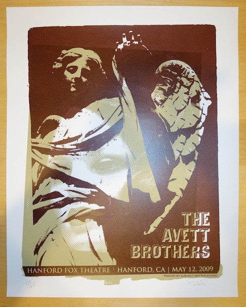 2009 Avett Brothers - Hanford Poster by Subject Matter Studio