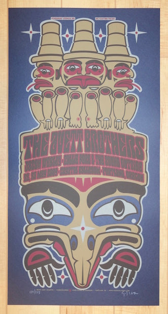 2009 The Avett Brothers - Portland Silkscreen Concert Poster by Gary Houston