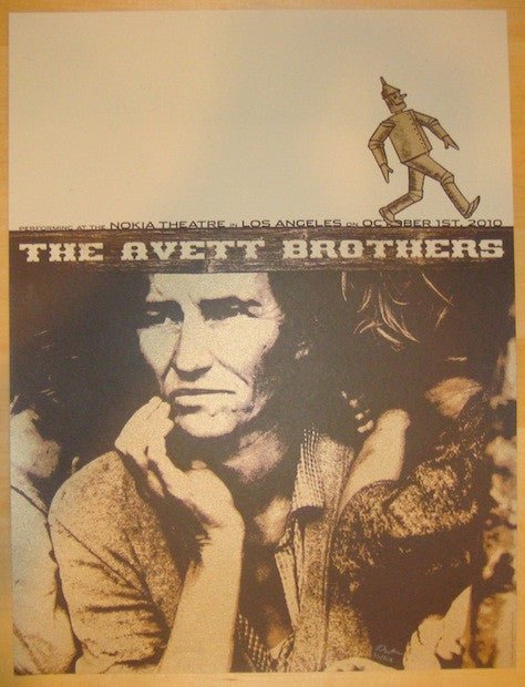 2010 Avett Brothers - LA Silkscreen Concert Poster by Rob Jones