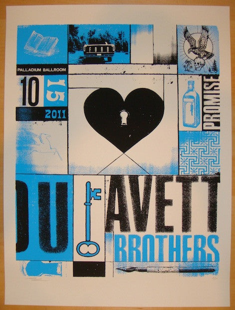 2011 Avett Brothers - Dallas II Concert Poster by Andrew Vastagh