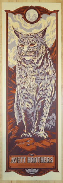 2011 The Avett Brothers - Red Rocks Silkscreen Concert Poster by Ken Taylor
