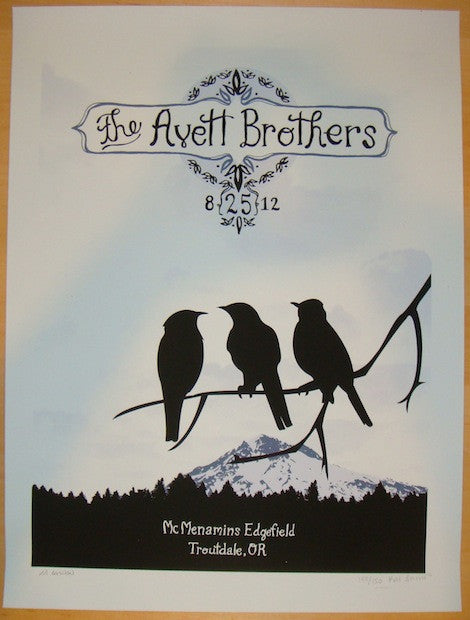 2012 Avett Brothers - Troutdale I Concert Poster by Kat Lamp