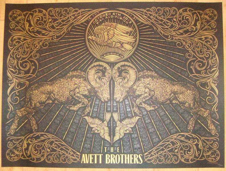 2013 Avett Brothers - Albuquerque Concert Poster by Todd Slater