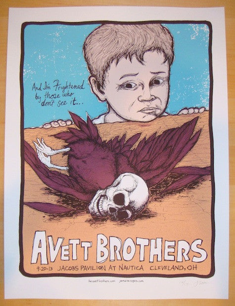 2013 Avett Brothers - Cleveland Concert Poster by Jermaine