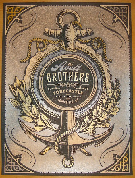 2013 Avett Brothers - Forecastle Concert Poster by Status