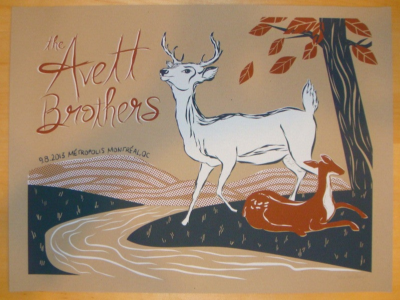 2013 Avett Brothers - Montreal Concert Poster by Kat Lamp