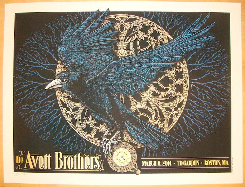 2014 Avett Brothers - Boston Concert Poster by Todd Slater