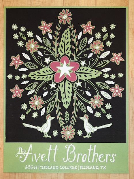 2014 Avett Brothers - Midland Concert Poster by Kat Lamp
