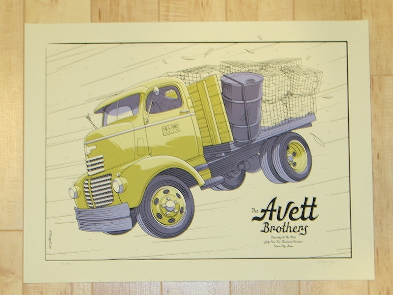 2014 Avett Brothers - Sioux City Concert Poster by Crisler