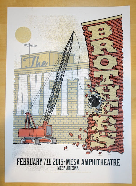 2015 The Avett Brothers - Mesa Concert Poster by Mike King