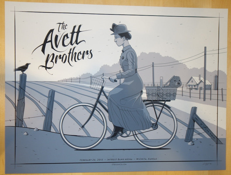 2015 The Avett Brothers - Wichita Concert Poster by Charles Crisler