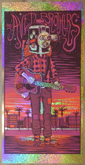 2017 The Avett Brothers - Los Angeles Sparkle Foil Variant Concert Poster by Jim Mazza