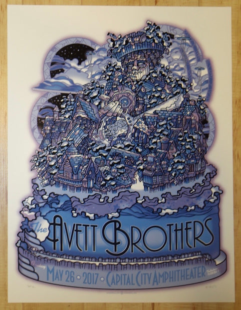2017 The Avett Brothers - Tallahassee Silkscreen Concert Poster by Guy Burwell