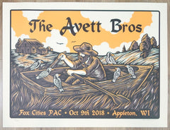 2018 The Avett Brothers - Appleton Silkscreen Concert Poster by Chad Eaton