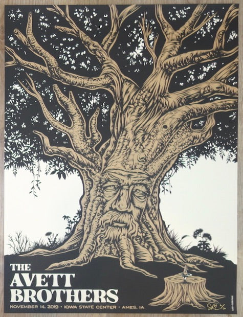2019 The Avett Brothers - Ames Copper Variant Concert Poster by Todd Slater