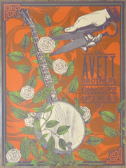 2019 The Avett Brothers - Moorhead Silkscreen Concert Poster by Status Serigraph