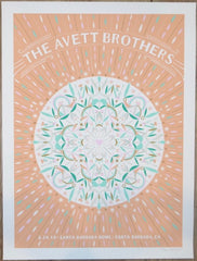 2019 The Avett Brothers - Santa Barbara Silkscreen Concert Poster by Kat Lamp