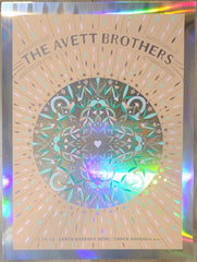 2019 The Avett Brothers - Santa Barbara Foil Variant Concert Poster by Kat Lamp