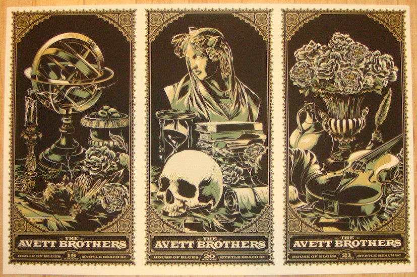 2010 Avett Brothers - Myrtle Beach Uncut Posters by Ken Taylor