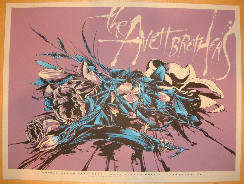 2011 Avett Brothers - Clearwater Concert Poster by Ken Taylor