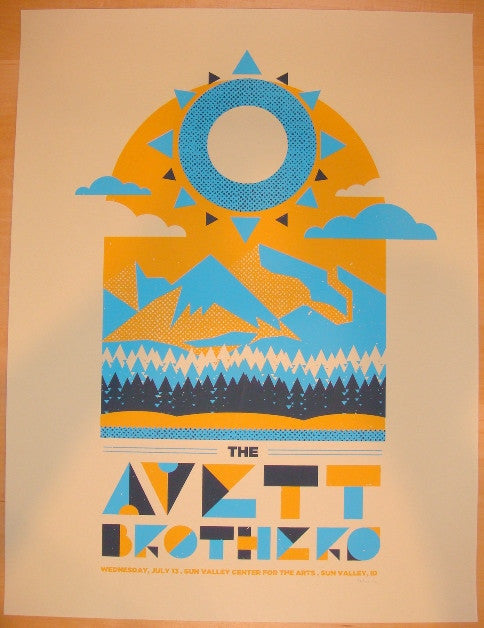 2011 Avett Brothers - Sun Valley Concert Poster by Silent Giants