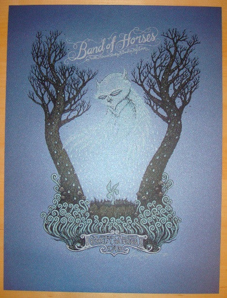 2010 Band of Horses - Silkscreen Concert Poster by Marq Spusta