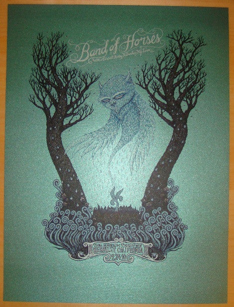 2010 Band of Horses - AE Silkscreen Concert Poster by Spusta