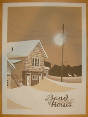 2014 Band of Horses - Philadelphia Concert Poster by Santora