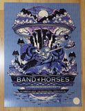 2016 Band of Horses - Asheville Silkscreen Concert Poster by Guy Burwell