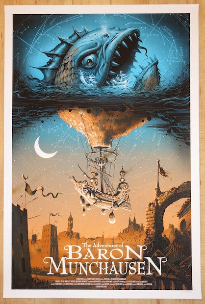 "2014 ""The Adventures of Baron Munchausen"" - Movie Poster by Soto"