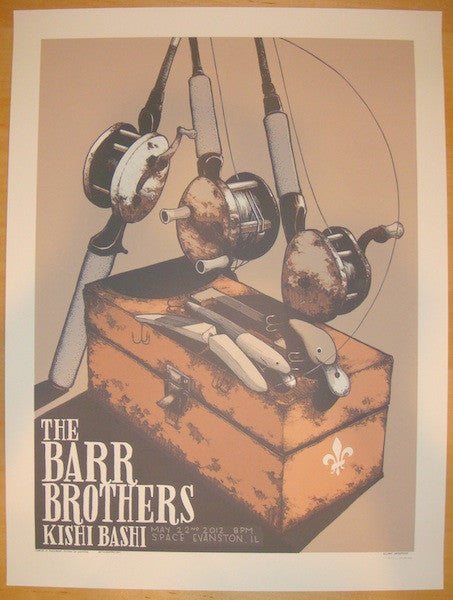 2012 The Barr Brothers - Concert Poster by Justin Santora