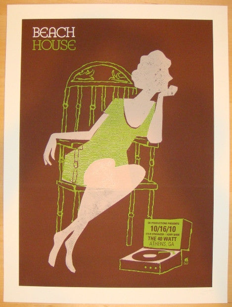 2010 Beach House - Athens Silkscreen Concert Poster by Methane