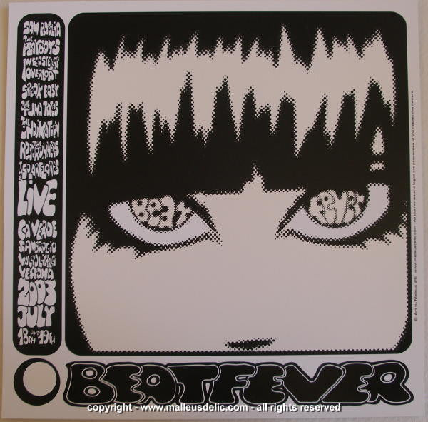 2003 Beat Fever Silkscreen Concert Poster by Malleus