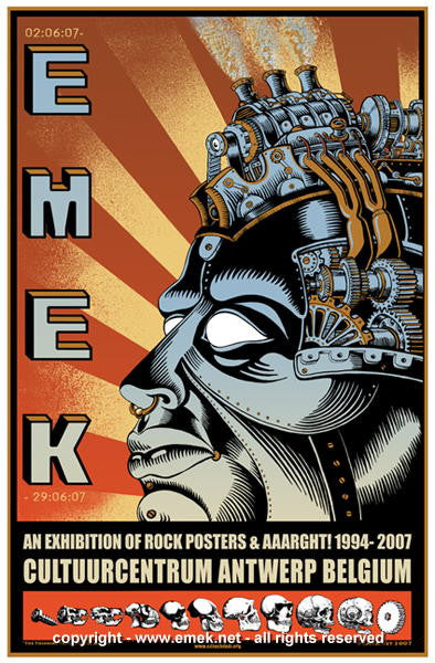 2007 EMEK in Belgium - Silkscreen Event Poster by Emek