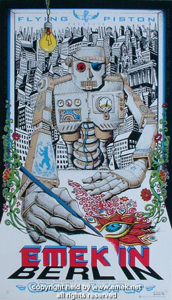 1999 Emek in Berlin Silkscreen Poster by Emek