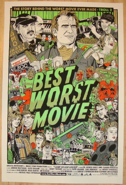 "2010 ""Best Worst Movie"" - Silkscreen Movie Poster by Tyler Stout"