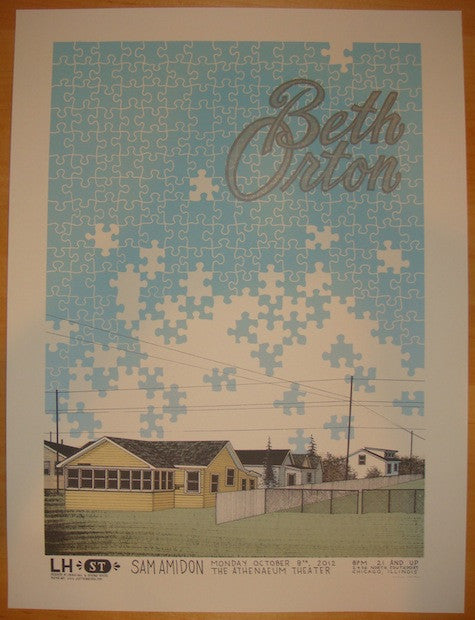 2012 Beth Orton - Chicago Concert Poster by Justin Santora