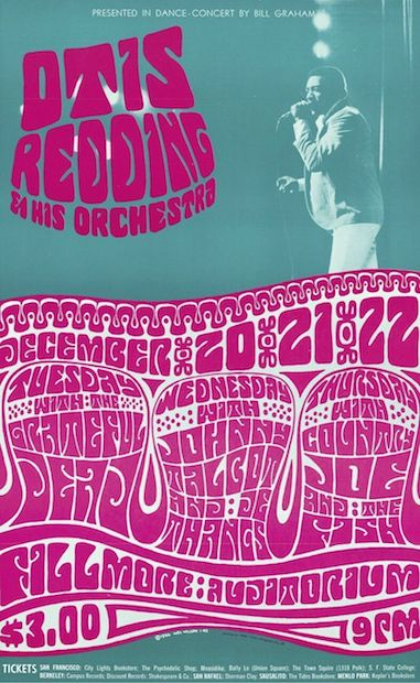 1966 Otis Redding / Grateful Dead - Fillmore Concert Poster by Wes Wilson OP-1